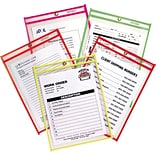 C-Line® Stitched Shop/Job Ticket Holders, 9 x 12, Neon