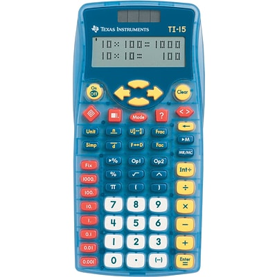 Texas Instruments® TI15 Explorer™ Scientific Calculator