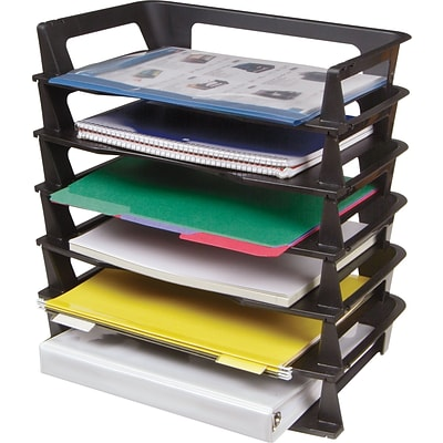 Bon Eldon® Recycled Stackable Side Loading Letter Size Desk Trays, ...