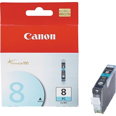 Canon CLI 8 Photo Cyan Ink Cartridge, Standard (0624B002)