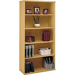 Bush® Corsa Light Oak Open Double Bookcase