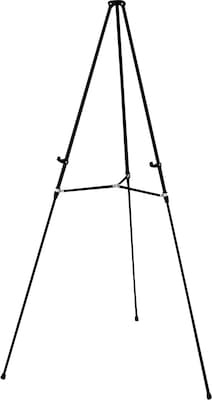"Quartet® Aluminum Lightweight Telescoping Display Easel, 66"", Holds 25 lbs. Blk"