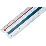 Staedtler® Mars® 12 Triangular Ruler Scale w/Color-Coded Grooves