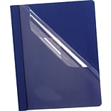 Esselte® Deluxe Clear Front Report Covers, Dark Blue
