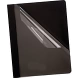 Esselte Deluxe Clear Front Black Report Covers