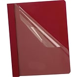 Esselte® Deluxe Clear Front Report Covers, Burgundy
