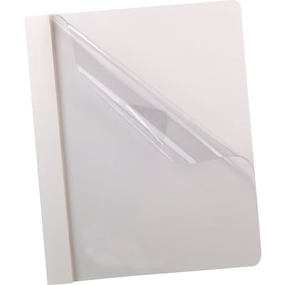 Esselte® Deluxe Clear Front Report Covers, White