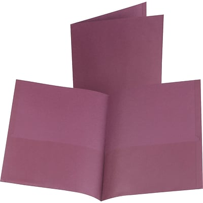 Oxford® 2-Pocket Folder, Burgundy, 25/Box (57557)