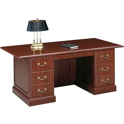HON® 94000 Series Office Suite, Double Pedestal Desk, 72W