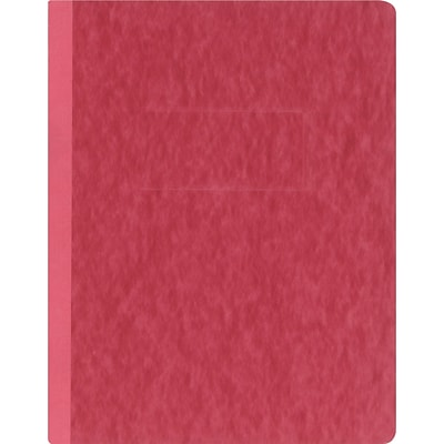 Oxford® PressGuard® Report Cover with Fastener, 8-1/2x11, Executive Red