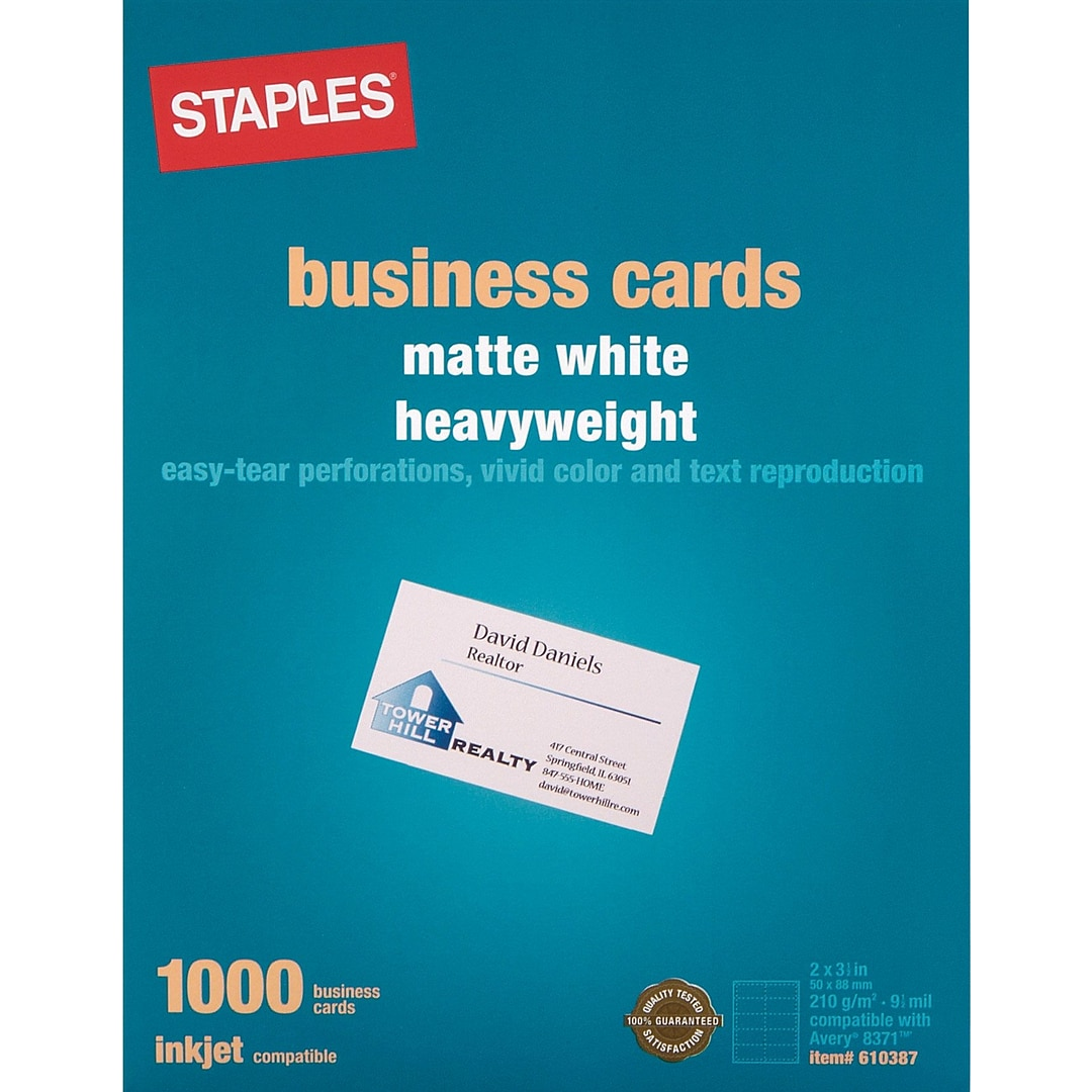Inkjet Business Cards, 2\