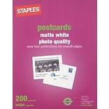 Staples® Postcard Matte; White, 200/Count, 5-1/2 x 4-1/4