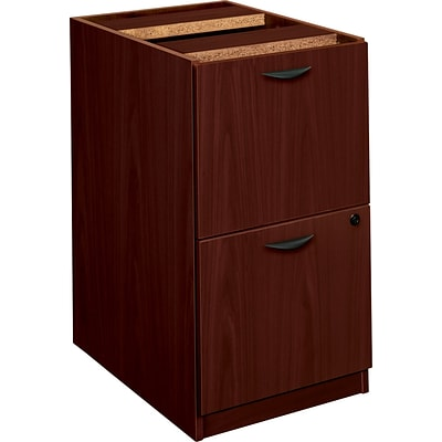basyx by HON BL Series 2-Drawer Pedestal File/File, Mahogany, 27 3/4H x 15 5/8W x 21 3/4D NEXT2017 NEXT2Day