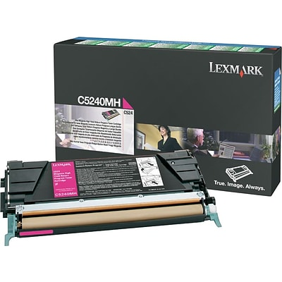 Lexmark Magenta Toner Cartridge (C5240MH), High Yield, Return Program