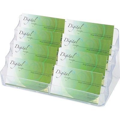 Quill Brand® Clear Business Card Holder, 8 Pocket, 400 Card Capacity (36571/70801SUS)