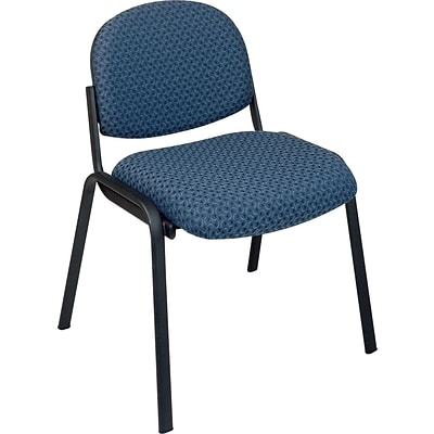 Office Star & trade, Armless Guest Chair with Steel Frame, Blue