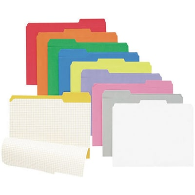 Pendaflex® Reinforced-Top File Folders, Assorted Colors