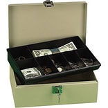 Pebble Beige Cash Box With 7 Compartments