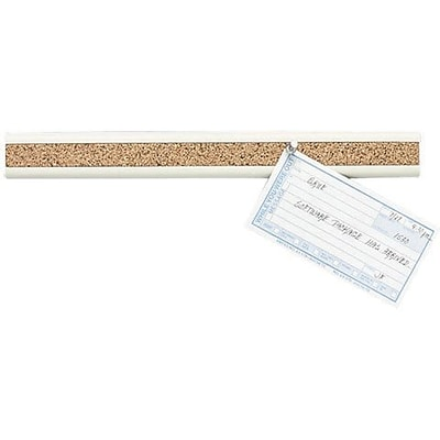 Quartet® Bulletin Bar® II, 18 Length, Natural Cork w/ Putty Plastic Frame