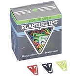 Baumgartens Small Plastiklips Paper Clips, Assorted Colors, 1000/Box (BAULP0200)