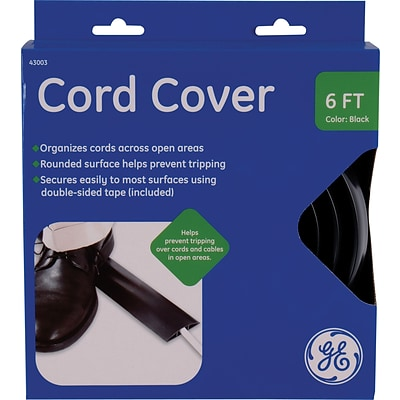 GE Cord Cover, Black: 6 x 2.5
