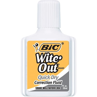 BIC Wite-Out Quick Dry Correction Fluid (WOFQD12)