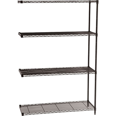 Safco® Industrial Wire Shelving, Add on Unit, 48Wx18D
