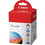 Canon® CLI-8 Inkjet Cartridges Multi-pack (4 cart per pack); 1ea of Black, Magenta, Cyan and Yellow