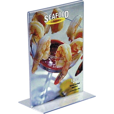 Vertical Stand-Up Sign Holder, 5 x 7