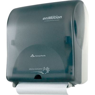 enMotion® Wall Mount Automated Touchless Towel Dispenser, Translucent Smoke