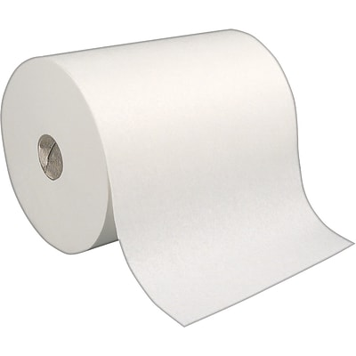 enMotion 1-Ply Hardwound Paper Towel Rolls, White, 6 Rolls/Case