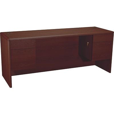HON® 10700 Series Office Suite in Mahogany, Kneespace Credenza, 72Wx24D
