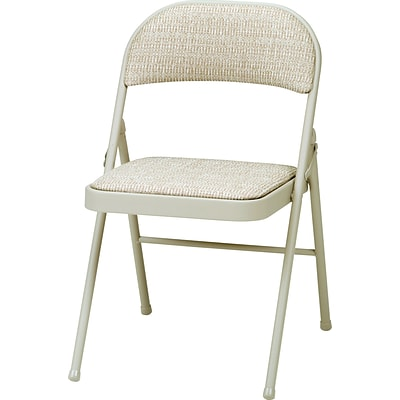 3200 Series Padded Folding Chairs, Beige/Network