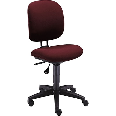HON® ComforTask Task/Computer Chair, Fabric, Burgundy, Seat: 20W x 17D, Back: 16 1/4W x 17 3/4- 20 1/4H