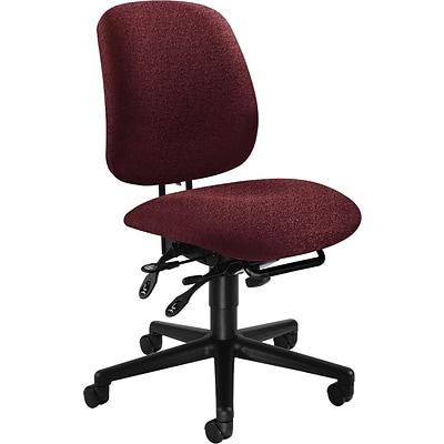 HON® 7700 Series Task Chairs, High Performance, Burgundy