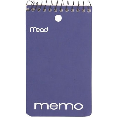 Mead Wirebound Memo Book, 5 x 3, College Ruled, 60 Sheets/Book (45354)