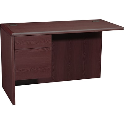 HON® 10700 Series Office Suite in Mahogany,L Workstation Left Return, Order Right Desk
