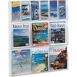Gould Plastics Clear Literature Display Rack for 6 Pamphlets/6 Magazines
