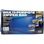 MMF Industries™ Multi-Purpose Zipper Bag, 3 Pack