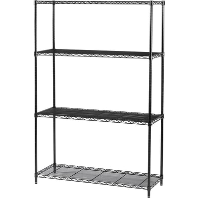 Safco® Industrial Wire Shelving, Starter Kit, 48Wx18D