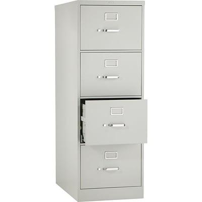 HON® 320 Series 4 Drawer Vertical File Cabinet, Legal, Light Grey 26D (