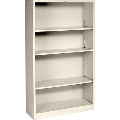HON® Brigade Steel Bookcase, Putty, 4-Shelf, 59H