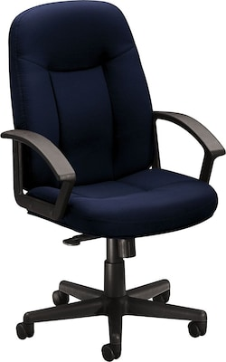 """Basyx By Hon(r) Hvl601 High Back Task Chair, Fabric, Navy, Seat: 20 1/2""""w X 17""""d, Back: 20 1/2""""w X 26 1/2"""" 26 1/2""""h"""