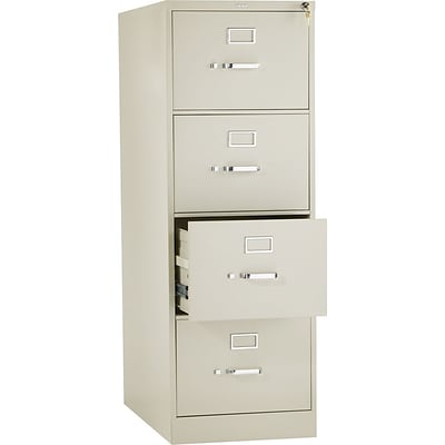 HON 310 Series Vertical File Cabinet, Legal, 4 Drawer, Putty, 26