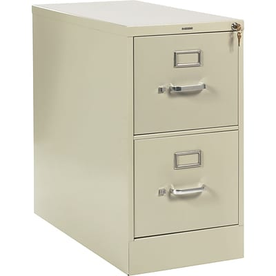 HON® 210 Series 2 Drawer Vertical File Cabinet, Letter, Putty, 28D (HON212PL)