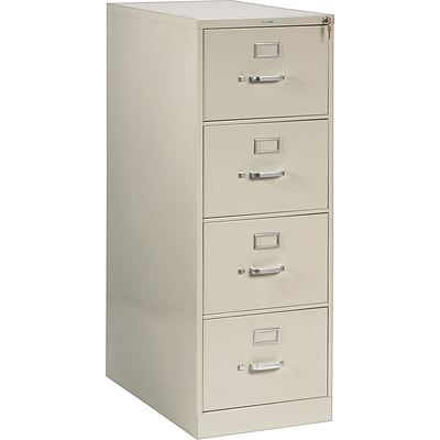HON® 210 Series Vertical File, 4-Drawer, Legal Size, Putty