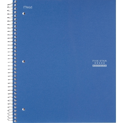 Mead® Five Star® Notebook 8-1/2x11, College Ruling, White, 100 Sheets/Pad, Recycled