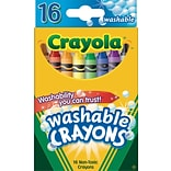 Crayola® Washable Crayons; 16/Box