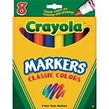 Crayola® Classic Broad Regular Markers; 8/Box
