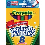 Crayola® Classic Broad Washable Markers; 8/Box